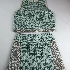Topshop set 2 piece top mini skirt size US 2/4